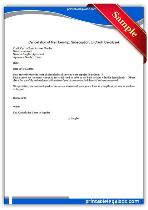 printable cancellation  membership  credit