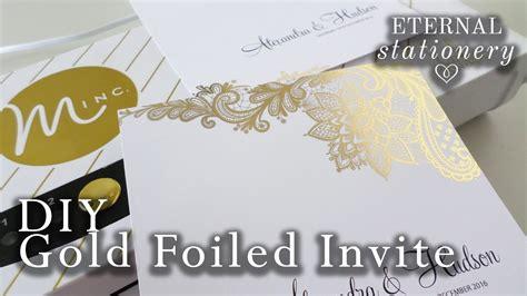 Gold Foil Transfer Wedding Invitations / Heidi Swapp