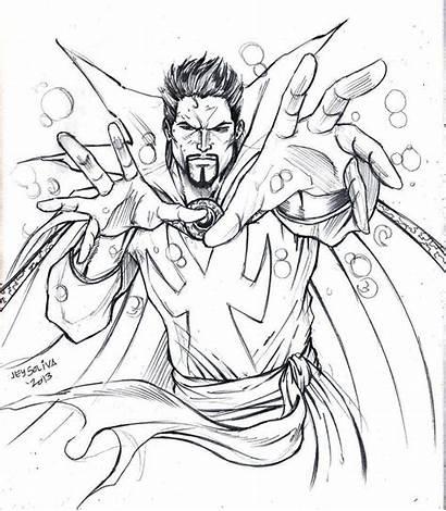Coloring Doctor Strange Superhero Pages Method Learning