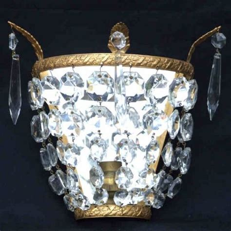2 antique crystal wall lights 149923 sellingantiques co uk