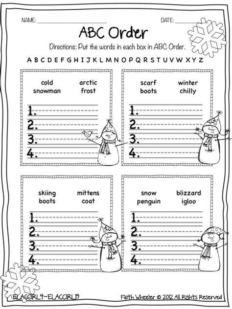 images  alphabetical order worksheets  grade
