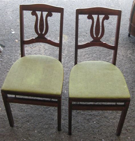 Stakmore Folding Chair Vintage by Set Of 2 Antique Vintage Green Stakmore Folding Wood