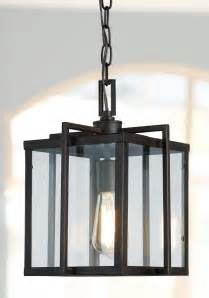 foyer pendant light with modern lines and edges http