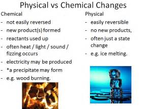 Difference Between Physical Chemical Change