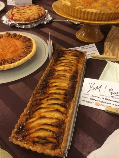 pie party ge potluck  potato bacon gruyere pie  shallots creme fraiche fresh herbs