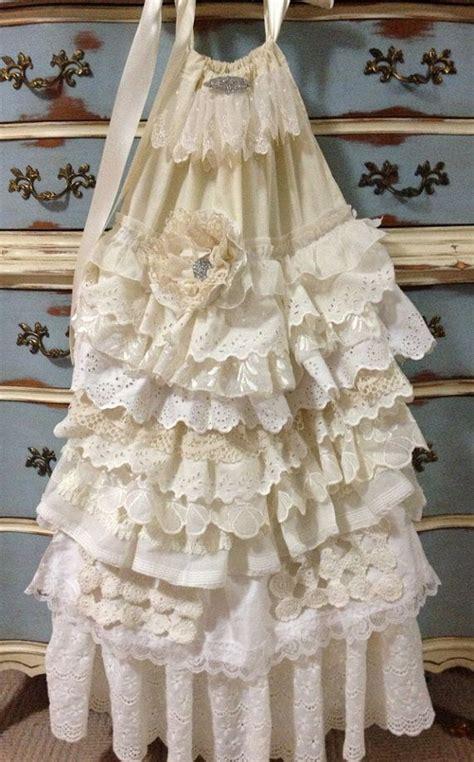 shabby chic flower dress boho girls dress flower girl dress shabby chic country girls dress
