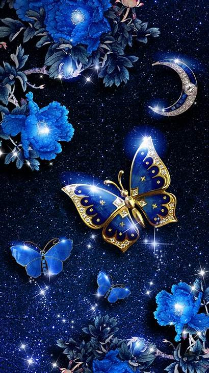 Butterfly Background Android Elegant Bling Flower Phone