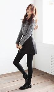 K-fashionista look the boots are nice and the leggings too sleek cute outfit | Korean fashion ...