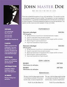 Professional free resume template download doc free cv for Free resume free download