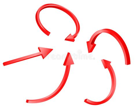 Freccia Rossa Illustrazione Di Stock. Illustrazione Di