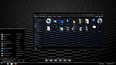 Windows 7 Theme  Ebony V2 By Jockhammer On Deviantart