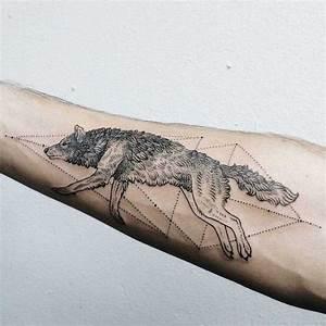 Loup Tatouage Geometrique : 1001 mod les de tatouage loup pour femmes et hommes ~ Melissatoandfro.com Idées de Décoration