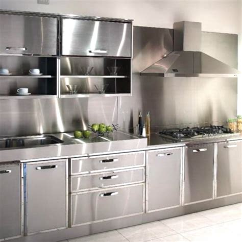 steel kitchen cabinets india modular stainless steel kitchen cabinet at rs 14000 unit 5791