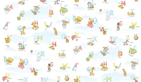 alphabet pattern self adhesive wallpapers for kids rooms wallstickery com