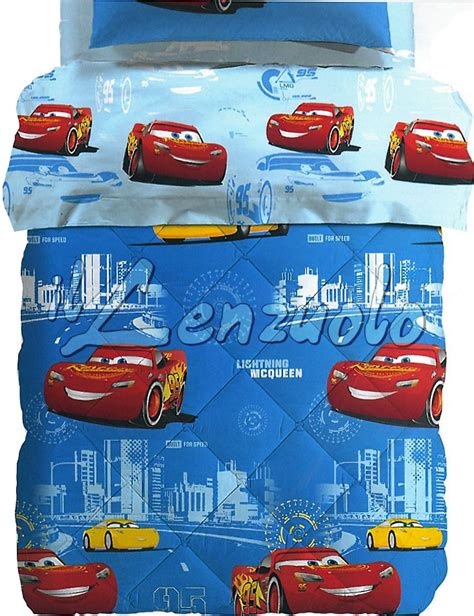 Piumone Cars by Trapunta Disney Una Piazza E Mezza In Microfibra Cars