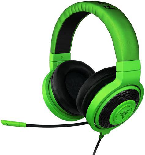 headset razer razer kraken pro ear pc and headset green
