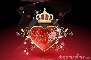 Delicious Strawberry Heart With Crown Stock Images - Image ...