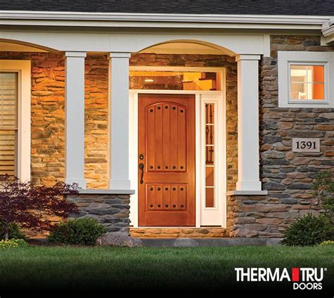 therma tru classic craft rustic collection fiberglass door