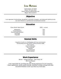 high school student resume   work experience resume