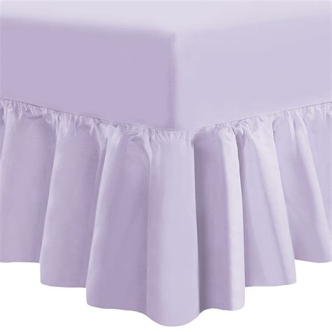 Valance Sheet by Hdn Plain Dyed Fitted Frilled Valance Sheet Poly Cotton