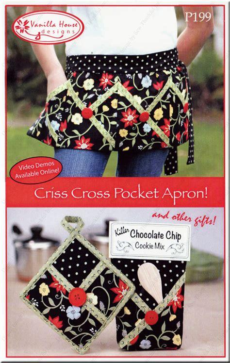 criss cross pocket apron sewing pattern  vanilla house designs