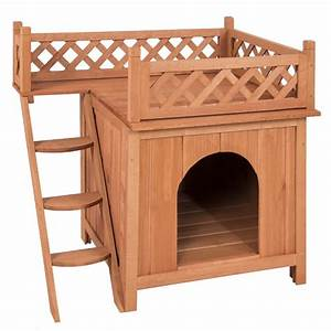 dog house wood room puppy pet indoor outdoor raised roof With indoor wooden dog house