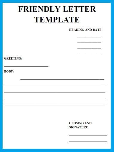 friendly letter template friendly letter templatebusiness letter exles 8842