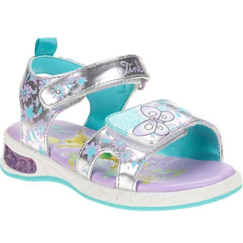girls light up sandals disney girls 39 tinkerbell light up sandals shoes