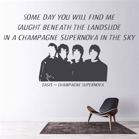 Banks Bedroom Wall Lyrics Meaning by Chagne Supernova Oasis Wall Sticker