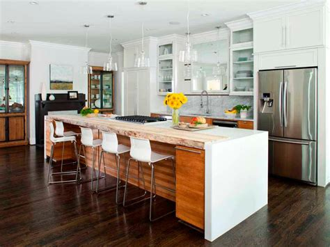 19 modern kitchen large island kitchen island breakfast bar pictures ideas from hgtv
