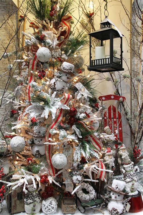 woodland snowman christmas tree shinoda design center
