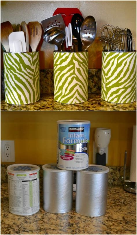 diy repurposing ideas  empty coffee containers