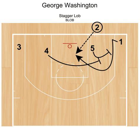 lob plays stagger george washington bounds baseline