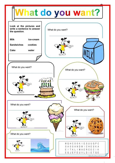 What Do You Want? Worksheet  Free Esl Printable Worksheets Made By Teachers