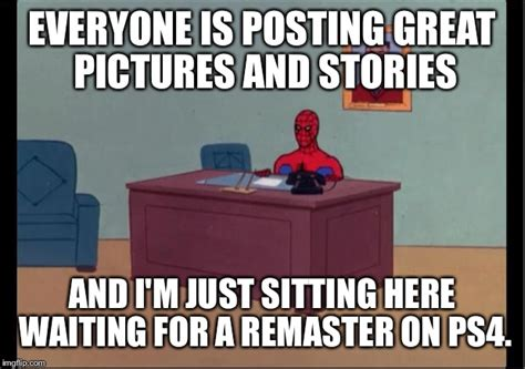 Just Sitting Here Meme - spider man desk imgflip