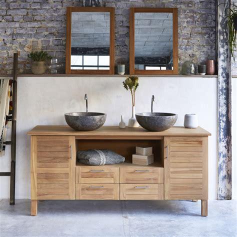 salle de bain teck meuble vasque en teck 165 cm meuble salle de bain tikamoon