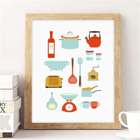 poster cuisine moderne affiche cuisine rétro on vous dit où en trouver joli place