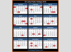 Sri Lanka Public Holidays 2018 – Holidays Tracker