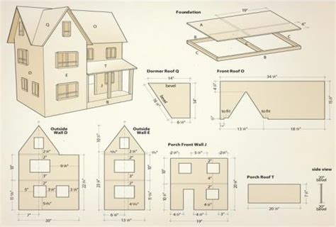 dolls house plans    love   house plans