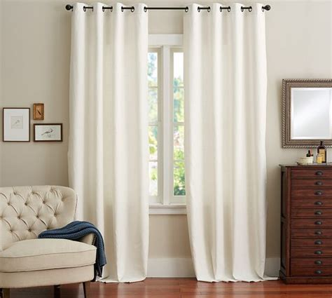 emery linen cotton grommet drape pottery barn home