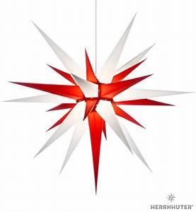 Herrnhuter Stern Beleuchtung : herrnhuter stern i8 wei rot papier 80cm von herrnhuter ~ Michelbontemps.com Haus und Dekorationen