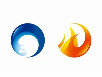 Fire Water Vector Icon Circular Circle Icons