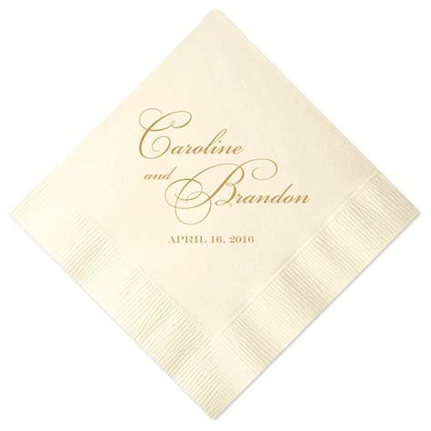 Personalized Names Wedding Napkins