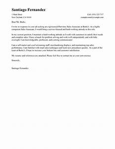 Cover letter for part time jobs templates for Cover letter for part time job in retail
