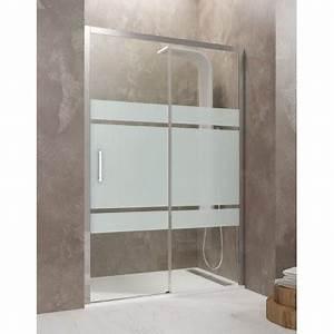 paroi de douche coulissante tethys satin robinet and co With porte de douche coulissante avec radiateur a eau salle de bain