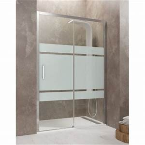 paroi de douche coulissante tethys satin robinet and co With porte de douche coulissante avec meuble salle de bain wanda
