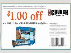 Whole Foods Coupon Clif Crunch Granola Bar Print