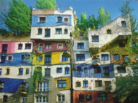 Hundertwasser House, Vienna, Austria  The Hundertwasser