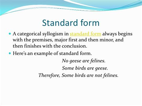 standard form categorical syllogism exles power point presentation for categorical syllogism