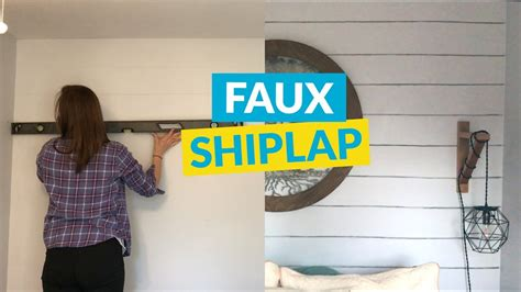 fixer upper style shiplap   budget youtube